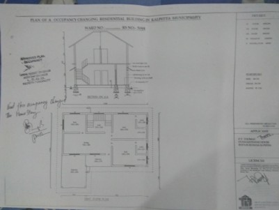 2650 sq ft independent villa in 12 cent plot for sale at Kalpetta, Wayanad.