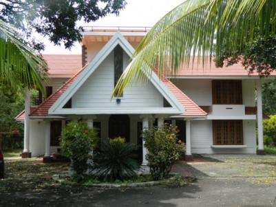 2.20 Acres of land with 7500 Sqft Luxury House for sale at Guruvayoor,Thrissur.