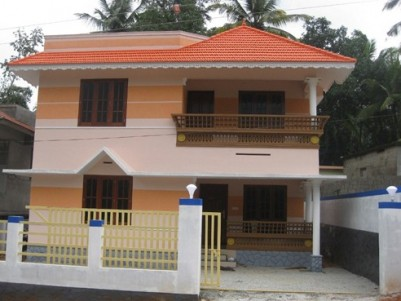1400 Sq.ft 3 BHK villa on 4 cents land for Sale at Nedumangaud, Thiruvananthapuram.