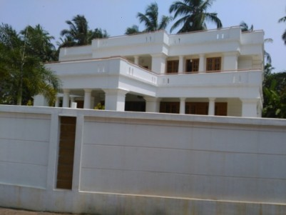 4500 Sqft Luxury House on 27 Cents of land for sale in Kannur.