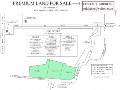 Prime Land for sale at Kayamkulam, Alappuzha
