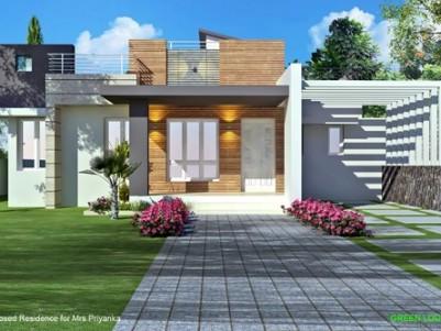 1850 Sqft  3 BHK  New gated villa on 6.5 cents of land for sale at Mattumantha,Palakkad.
