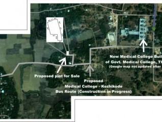 19.5 Cents of land  for Sale Near Govt. Medical College , Mulankunnathukavu, Thrissur .