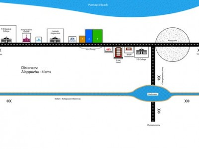 1 to 5 Acres of Premium Commercial land at NH Alapuzha.