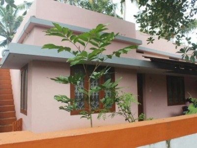 7 cent land with house in Nalanchira near Mar Ivanios College