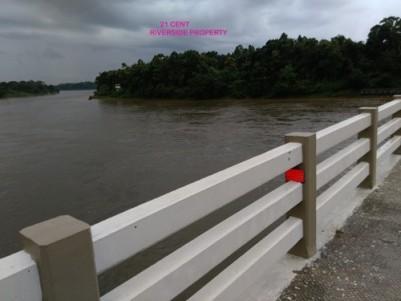 Enchanting River front land for sale at Malayattoor, Ernakulam District.
