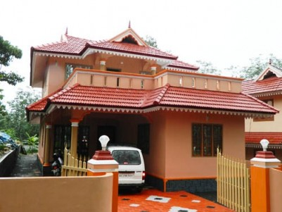 2100 Sqft 4 BHK Villa on 10 Cents of Land for sale at Pampady,Kottayam.