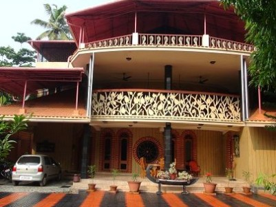 7BHK,5000 SqFt Beautiful House in 20 Cents For Sale at Thankey,Cherthala,Alappuzha