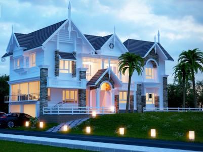 Posh villa for sale at Guruvayur, Thrissur