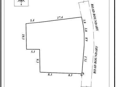11 cent square plot for sale at Thiruvalla, Pathanamathitta