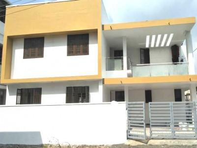 2256 Sqft, 4 BHK smartly designed villa on 5 Cent for Sale at Chembumukk, Near Palarivattom