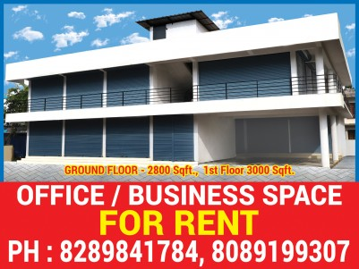 Double Storied Brand New Commercial Building with Parking Space for Sale/Rent at Chendamangalam.
