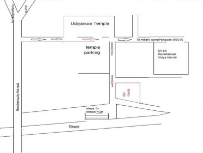 4 Cent Plot for Sale near Udiyanoor Temple, Maruthankuzhy, Trivandrum.