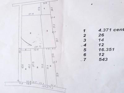 Villa plot for sale at Pampady town, Kottayam
