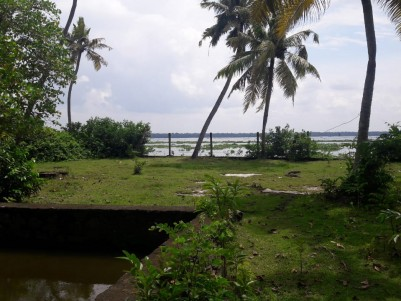 4 acres of  land with wide area water frontage for sale at Cherthala,Alappuzha