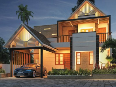 Luxurious Kerala style villas for sale in Ottapalam Town