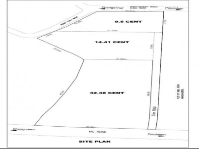 Residential Plot for sale (access from MC Road) at Maduka close to Kulanada, Pathanamthitta